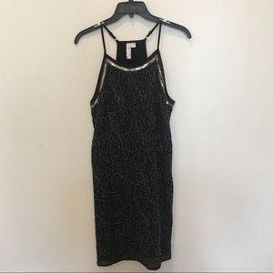 Black Sequined A-line dress